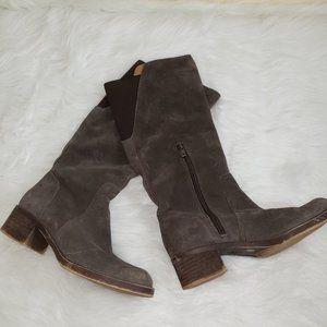 LUCKY BRAND HANOVER Brown Suede Riding Boots 6 EUC